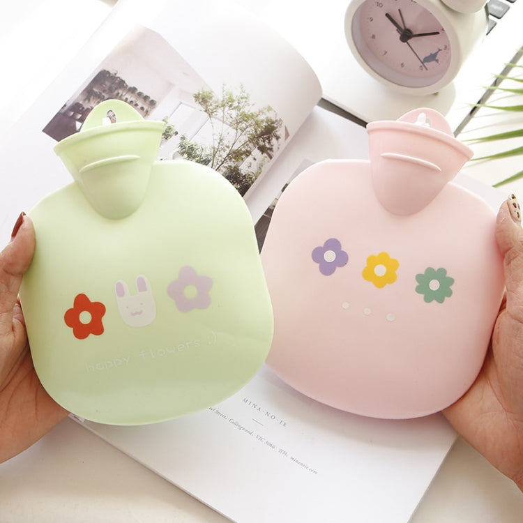 Flower PVC Filled Hot Water Bag Mini Round Bag Explosionproof Hand  Warmer(Blue) - Star Produkte