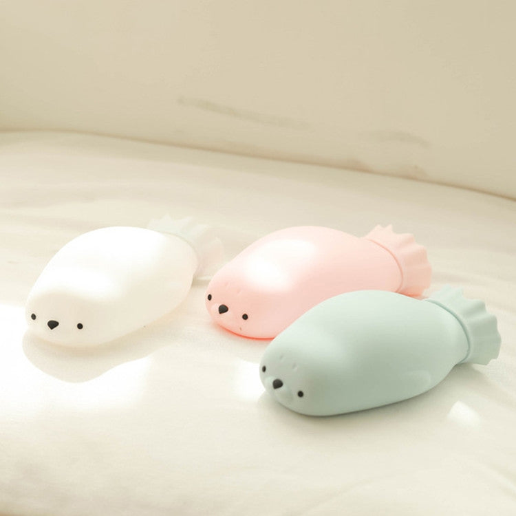 Cute Baby Seal Silicone Hot Water Bottle Injection Water Heater Bag(Pink) - Star Produkte