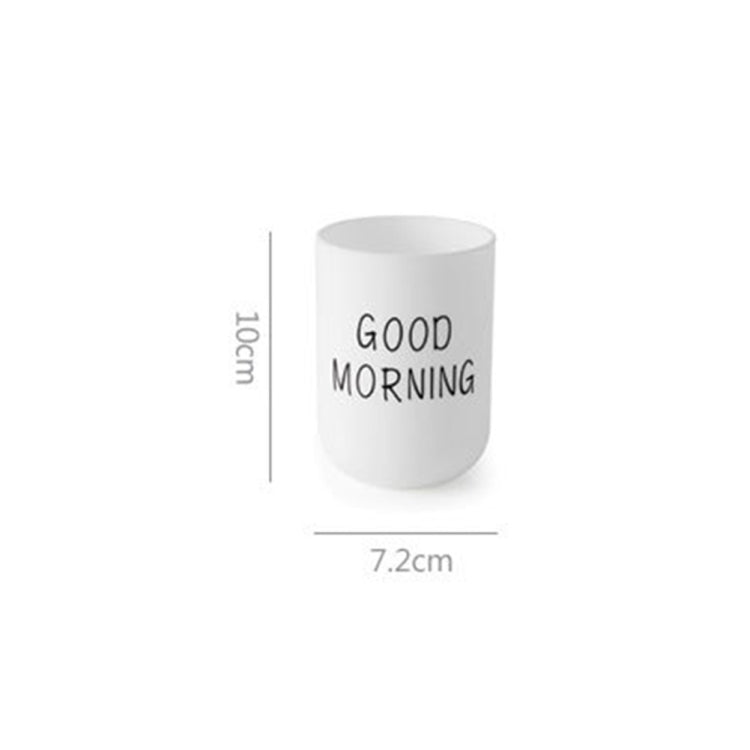 Simple Cute Brushing Cup Couple Plastic Mouthwash Cup, Pattern:Word(Gray-blue) - Star Produkte