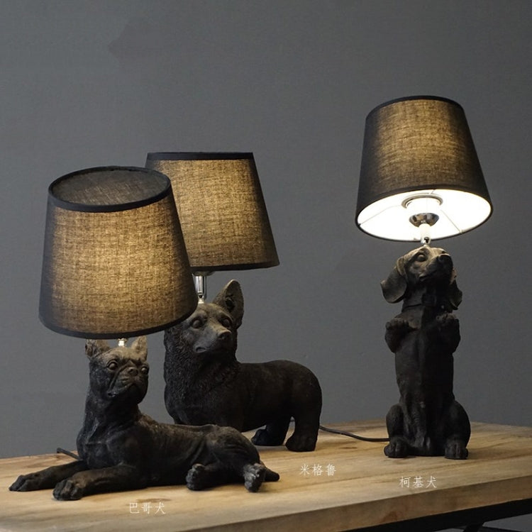 Retro Bedroom Bedside Lamp Creative Study Decorative Light Children's Room Table Lamp AU\US\EU Plug, Style:Boston B(Black) |
