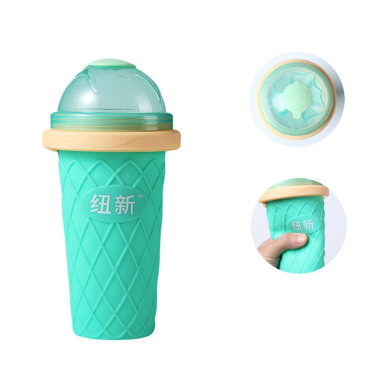 Creative Ice Water Glass Travel Portable Children Plastic Smoothie Cup Pinch Cup(Coffe) |