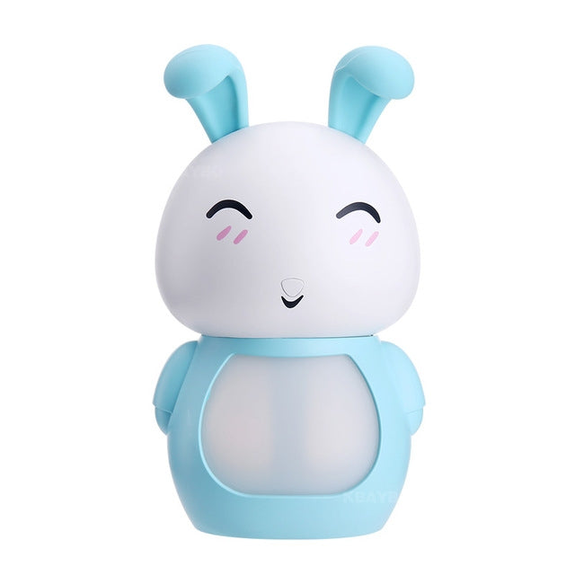 USB Aroma Essential Oil Diffuser Ultrasonic Cool Mist Rabbit Humidifier Air Purifier LED Night light(Blue) |