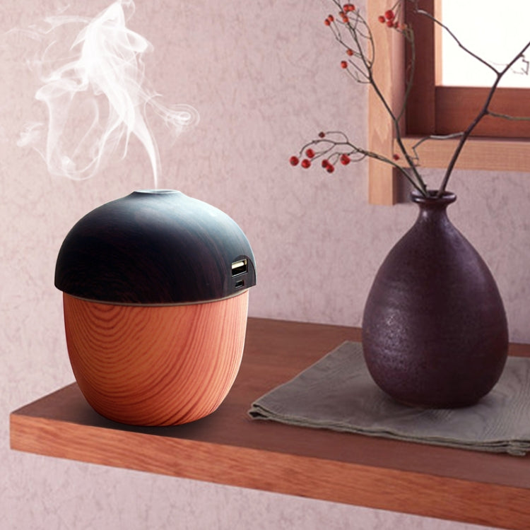 N1 Air Humidifier USB Aroma Essential Oil Diffuser Ultrasonic Cool Mist Air Purifier with 7 Color Changed LED(Wood Grain) |