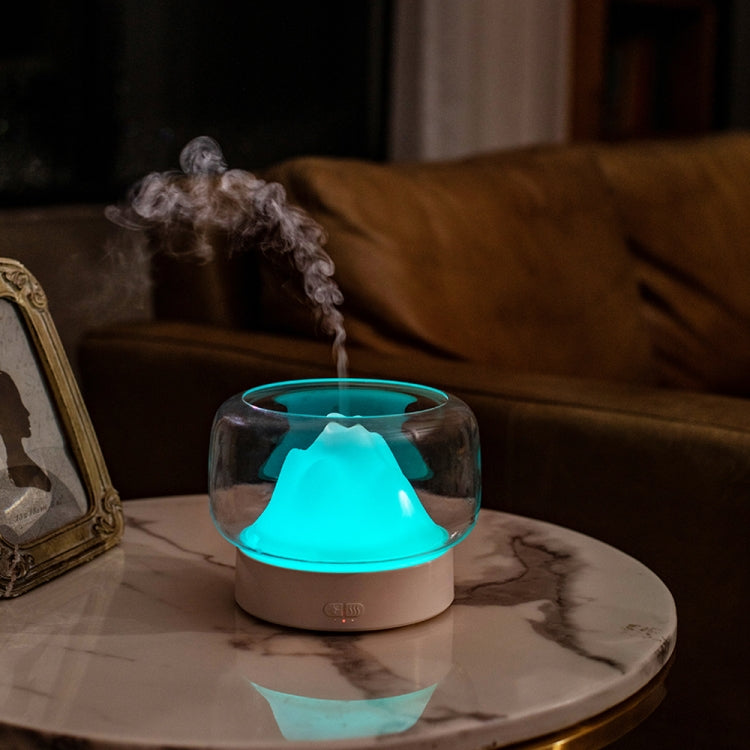 X907  400ML Moutain Essential Oil Aromatherapy Humidifier With Warm and Color LED Lamp, Plug Type: US Plug(Gray) |