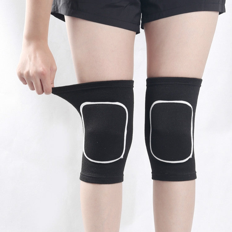 Black White Edging Children Thick Anti-collision Sponge Knee Pads Sports Protective Gear, SIZE:L - Star Produkte