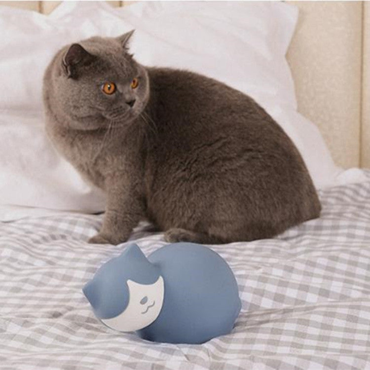 KT201 Cat Water-filled Silicone Hot Water Bottle Warmer Bag(Blue) - star-produkte.myshopify.com