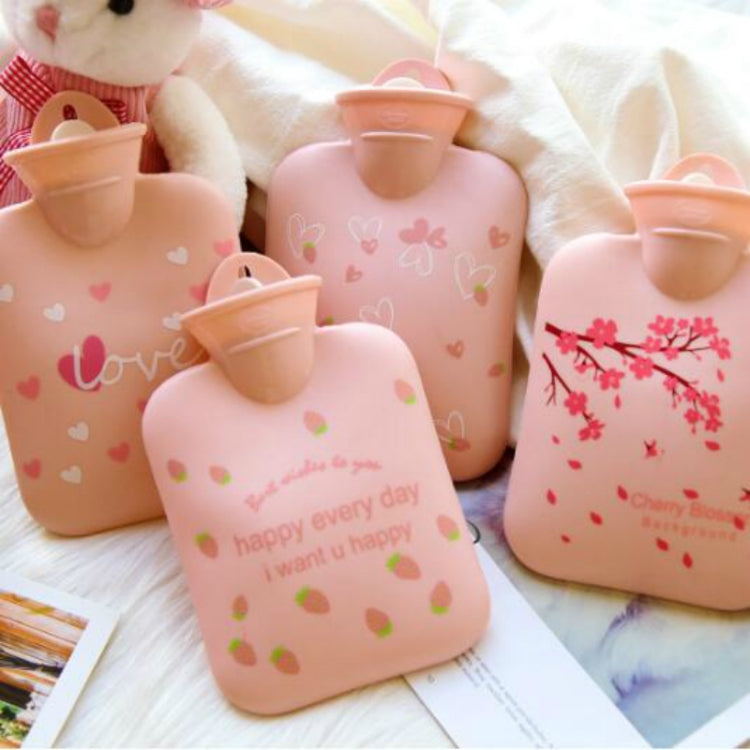 Portable Winter Warm Friendly PVC Water Injection Hot Water Bag, Size:Small(Pink Strawberry) - Star Produkte