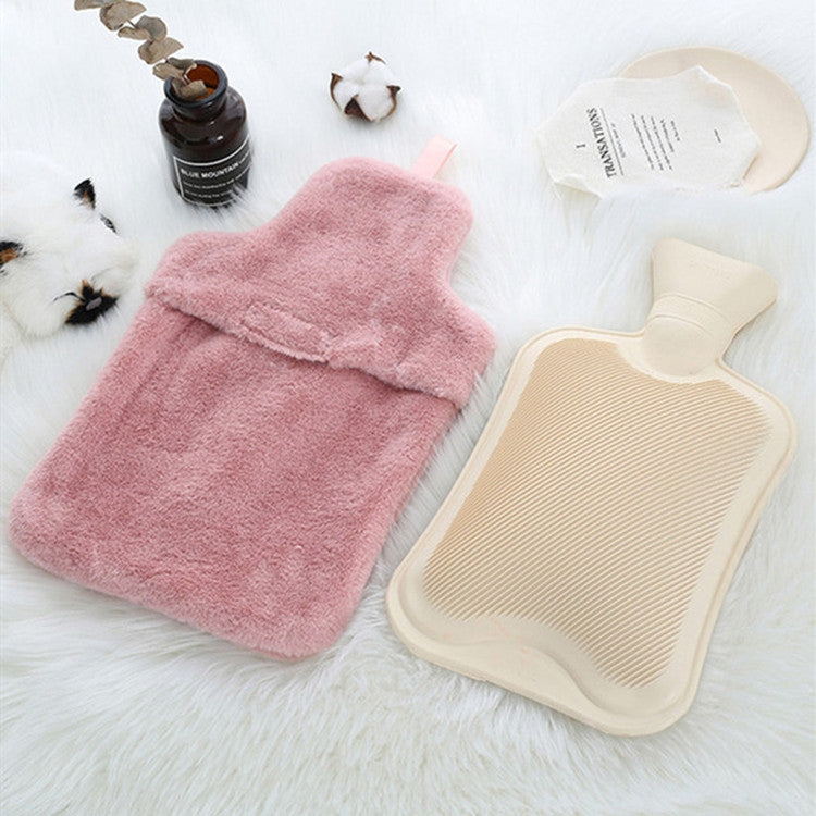 Water-filled Hot Water Bag Plush Cover Removable Washable Hand Warmer(Kahia) - Star Produkte