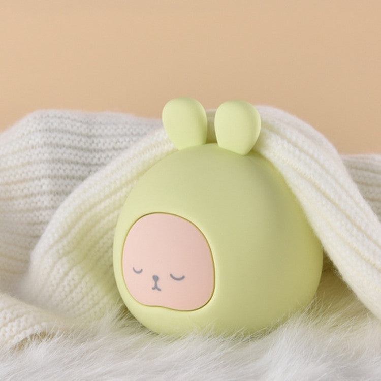 Silicone Water-filled Hot Water Bottle Rabbit Hand Warmer Bag(Green) - Star Produkte