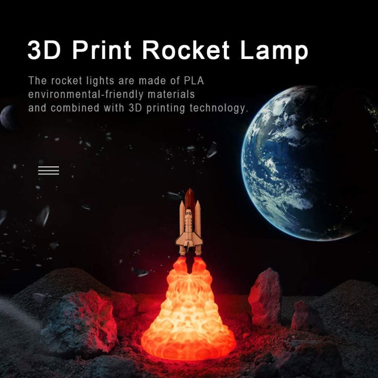 Rocket Light Creative LED Breathing Night Light Novelty Practical Desk Lamp(A-Small) - star-produkte.myshopify.com