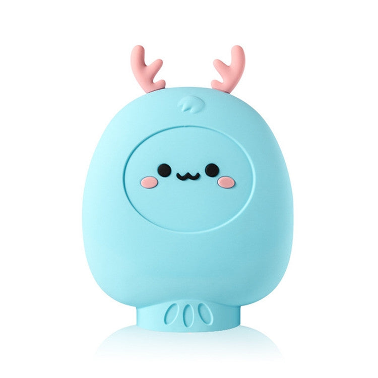Cute Deer Warm Handbag Injecting Water Heating Bag Silicone Hot Water Bottle Warmer(Blue) - star-produkte.myshopify.com