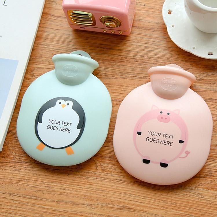 2 PCS Round Cartoon Water Injection Hot Water Bottle Hand Warmer Explosion-proof Winter Warm Bag(Pink) - Star Produkte