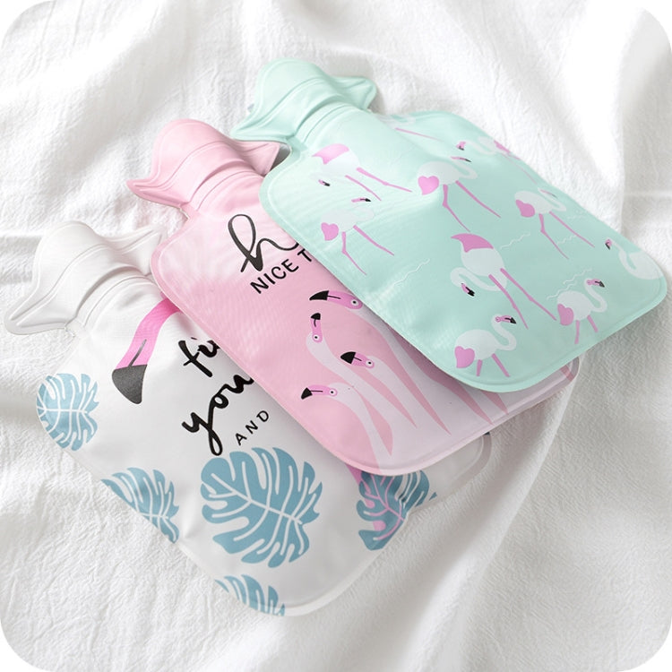 Cartoon Mini Water Injection Hot Water Bag Portable Hand Warmer, Color:Light Pink Flamingo - Star Produkte