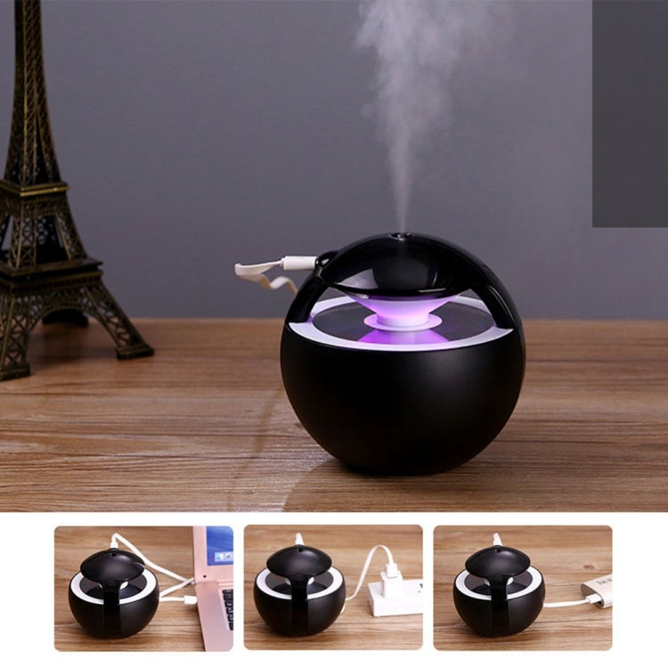 Mini USB Humidifier Creative Car Ultra Mute Atomizing Humidifier Colorful Light Atmosphere Air Humidifier(Black) |