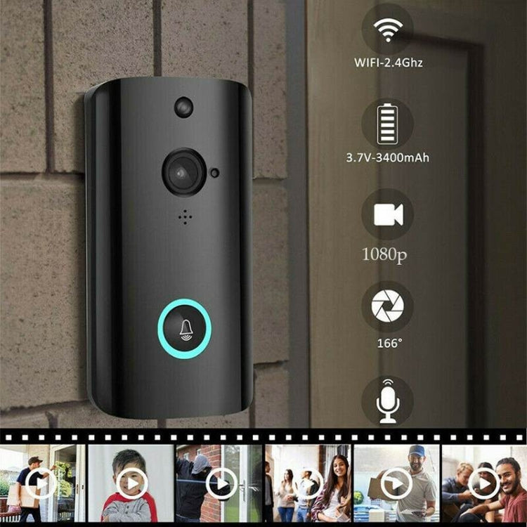 Smart WiFi Video Intercom Door Home Alarm Remote Monitoring, Typle:M9 + EU Plug Ding Dong Machine - star-produkte.myshopify.com