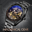 SKMEI 9194 Men Automatic Skeleton Mechanical Steel Band Watch (Silver) - star-produkte.myshopify.com