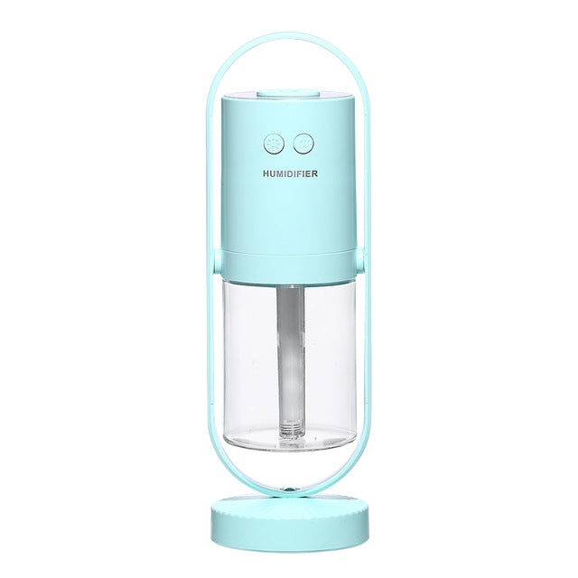 200ML Magic Projection Anion Air Humidifier Essential Oil Diffuser Cool Mist Air Purifier with 7 Color Lights(Baby Blue) - Star Produkte