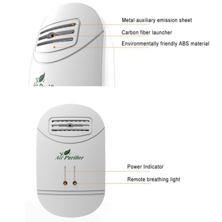 2000W Mini Negative Ion Formaldehyde Removal Second-hand Smoke Office Small Air Purifier(US Plug) - Star Produkte