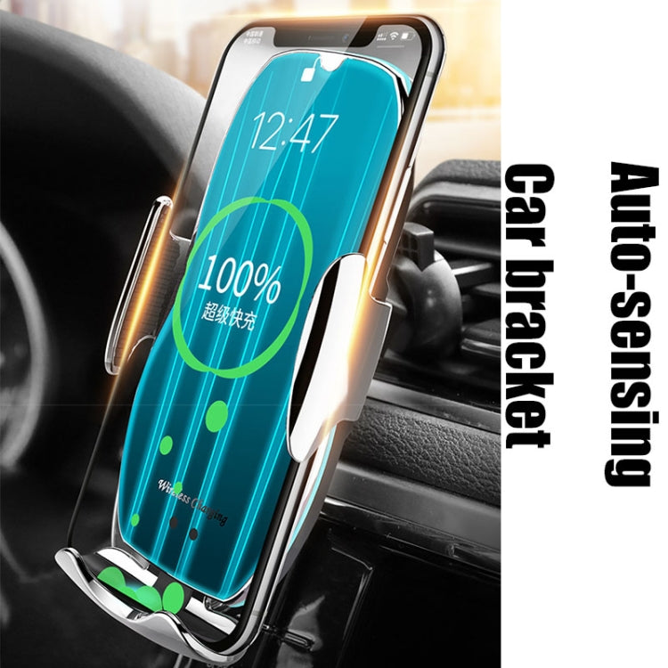 H8 Infrared Induction Magic Clip Magnetic Car Phone Navigation Wireless Charging Bracket Fast Charging(Low-key Black) - star-produkte.myshopify.com
