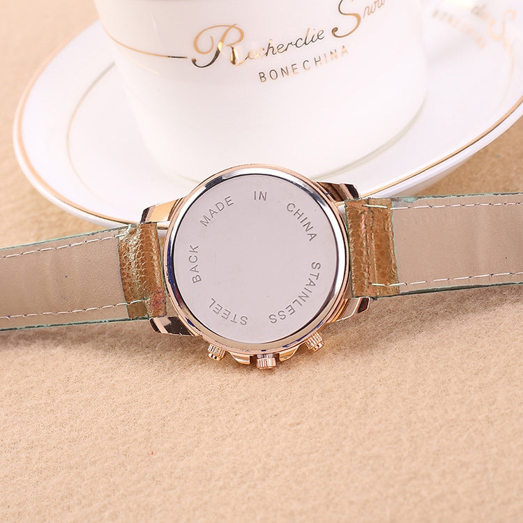 Women and Men Fashion Quartz Watches Leather Sports Casual Watch(Khaki) - Star Produkte