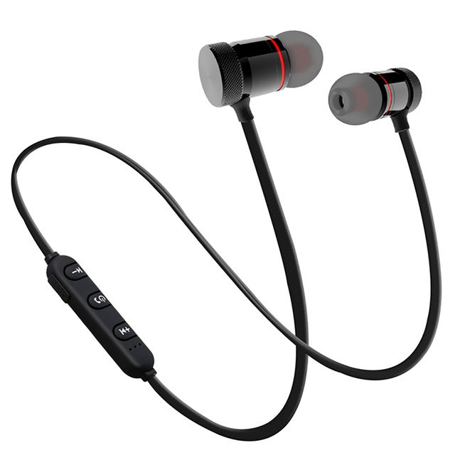 MoreBlue S07 Wireless Bluetooth Earphones Metal Magnetic Stereo Bass Headphones Cordless Sport Headset Earbuds With Microphone(Black) - star-produkte.myshopify.com