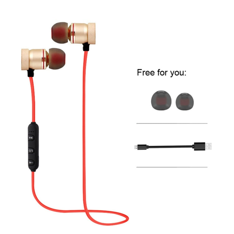 MoreBlue S07 Wireless Bluetooth Earphones Metal Magnetic Stereo Bass Headphones Cordless Sport Headset Earbuds With Microphone(Gold) - star-produkte.myshopify.com