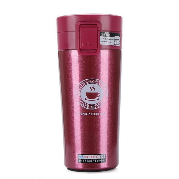 Double Wall Stainless Steel Vacuum Flasks 380ml Car Thermo Cup Coffee Tea Travel Mug Thermol Bottle, Capacity:380ml(Red) - Star Produkte