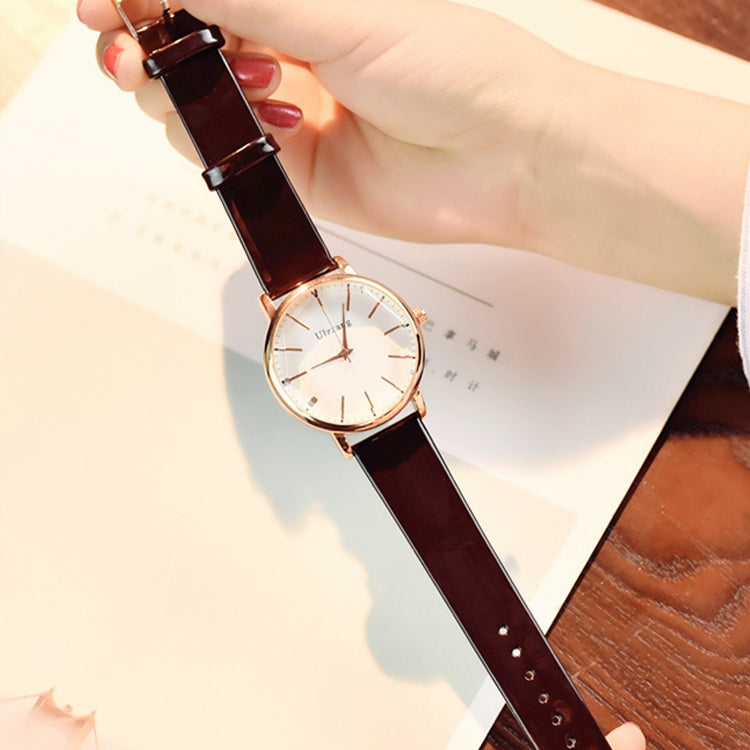 Ulzzang Simple Waterproof Large Dial Watch for Women(Black white) - Star Produkte