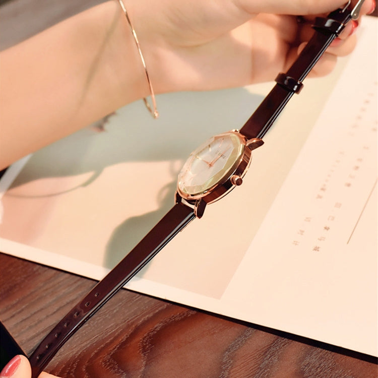 Ulzzang Simple Waterproof Large Dial Watch for Women(white white ) - Star Produkte