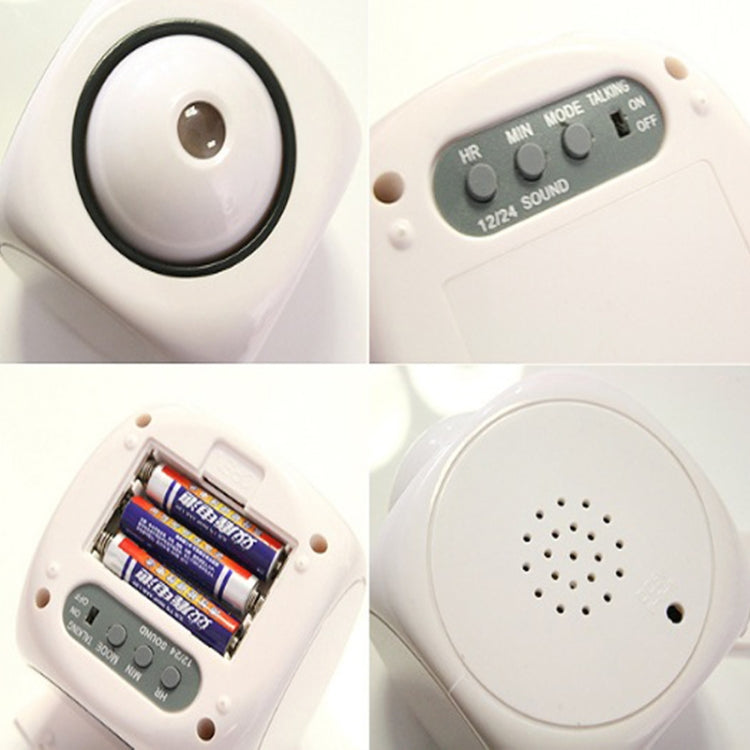 Multi-function LED Projection Alarm Clock Voice Talking Clock, Specification:Black without USB cable - Star Produkte