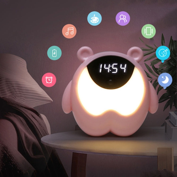 Creative Time Light Childrens Bedroom Smart Timer Bedside Alarm Clock, Style:Monochrome 3W(Pink) |