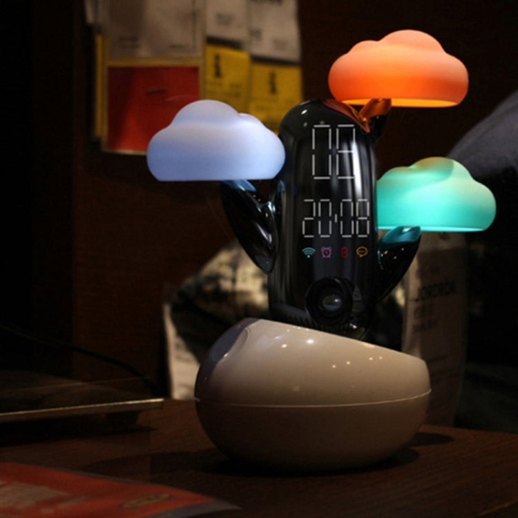 Cloud Weather Time Light Multifunctional Smart Induction Child Wake Up Alarm Clock(Pink) - star-produkte.myshopify.com