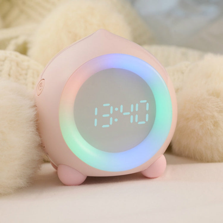 Creative Cartoon Peach Smart Alarm Clock Multifunctional Children Sleep with Luminous Electronic Clock, Style:Bluetooth(White) - Star Produkte