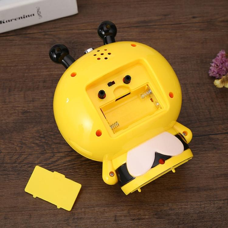 3 PCS Creative Home Day Cartoon Flower Bee Talking Student Alarm Clock(Yellow) |