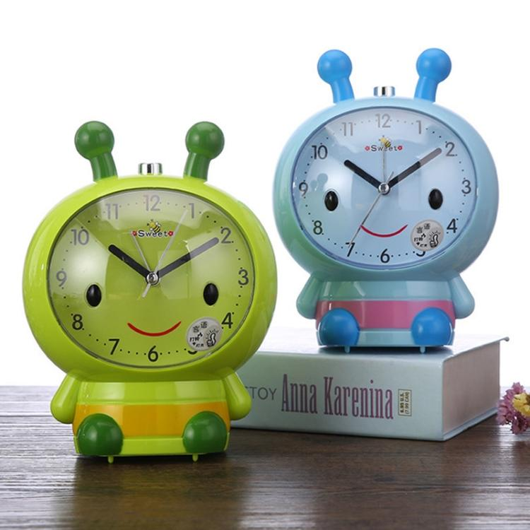 3 PCS Creative Home Day Cartoon Flower Bee Talking Student Alarm Clock(Green) - Star Produkte