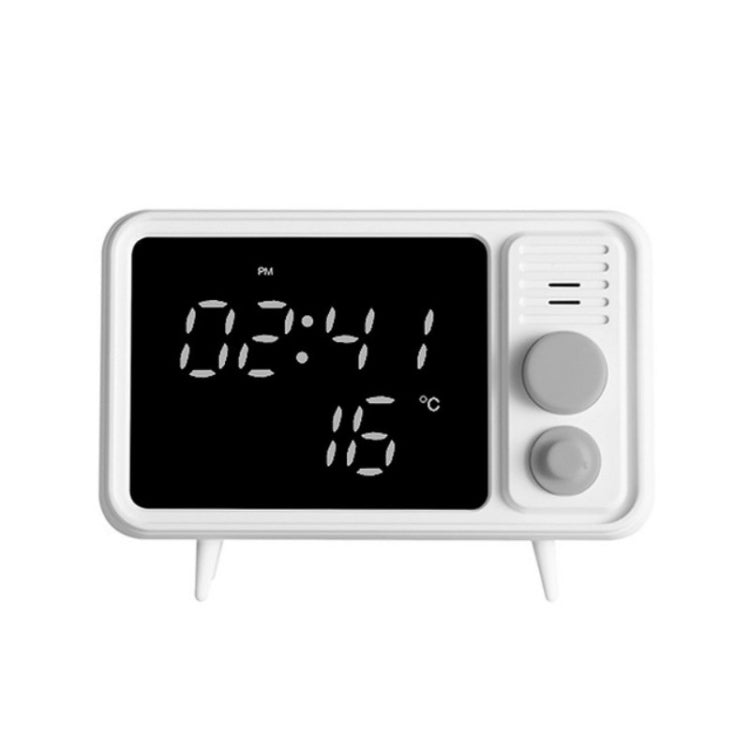 Multifunctional Retro TV Recording Cartoon Alarm Clock(Gray) - Star Produkte