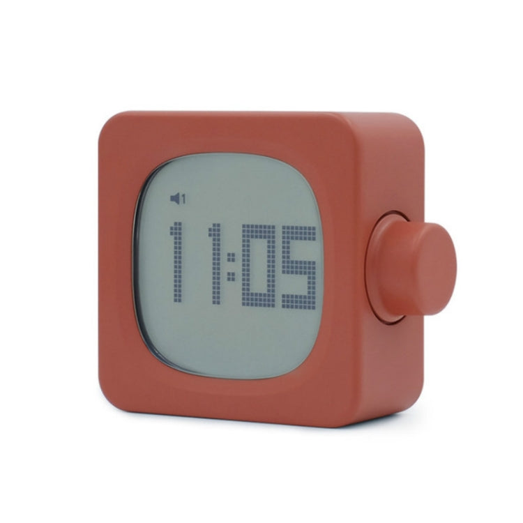 Student Creative Multifunctional Mute Bedside Bedroom Square Alarm Clock(Orange) - star-produkte.myshopify.com