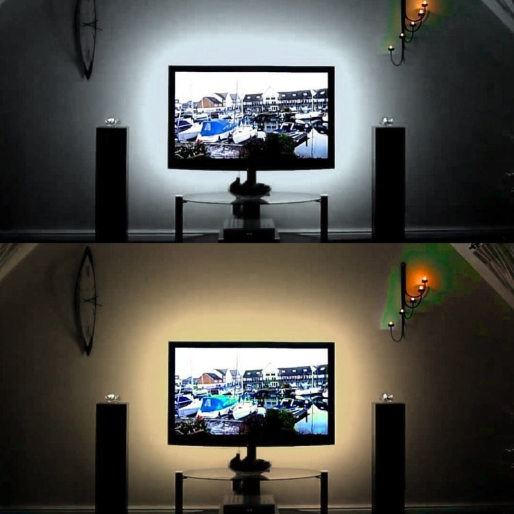 USB Power SMD 3528 Epoxy LED Strip Light Christmas Desk Decor Lamp for TV Background Lighting, Length:1m(White Light) - star-produkte.myshopify.com