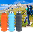 Portable Silicone Water Bottle Retractable Folding Coffee Bottle Outdoor Travel Drinking Sport Drink Kettle,Capacity:500ml(Gray) - Star Produkte