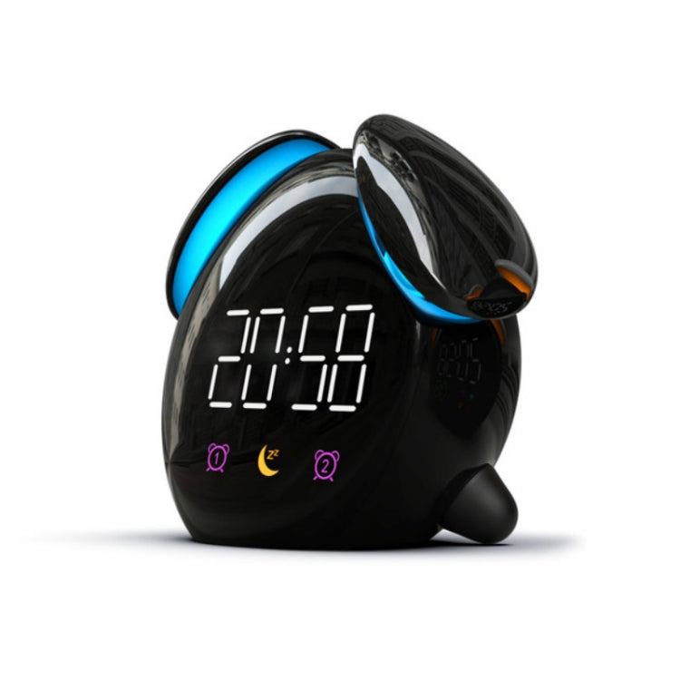 Creative Cartoon Dog Time Voice Broadcast Intelligent Induction Multifunctional Alarm Clock, Style:Alarm Clock(Black) - star-produkte.myshopify.com