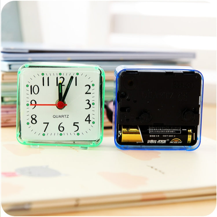 Square Alarm Clock Transparent Case Compact Digital Mini Bedroom Bedside Office Electronic Clock(Blue) - Star Produkte