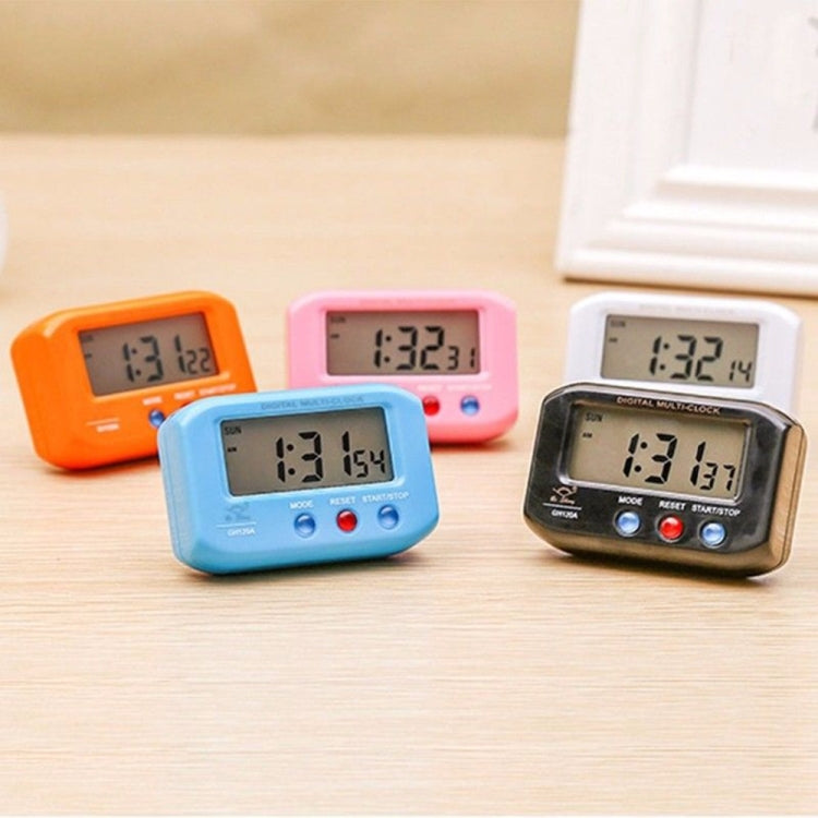 Portable Pocket Sized Digital Electronic Travel Alarm Clock Automotive Electronic Luminous Stopwatch LCD Clock(Red) - star-produkte.myshopify.com