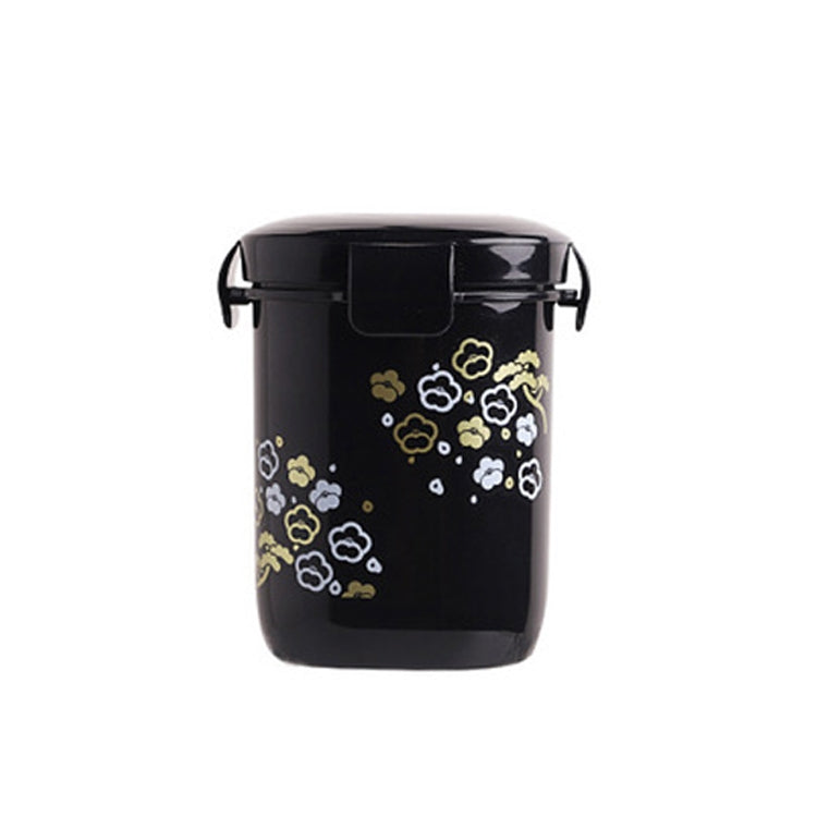 Sakura Pattern Portable Sealed Breakfast Porridge Soup Cup Soup Pot(Black) - Star Produkte
