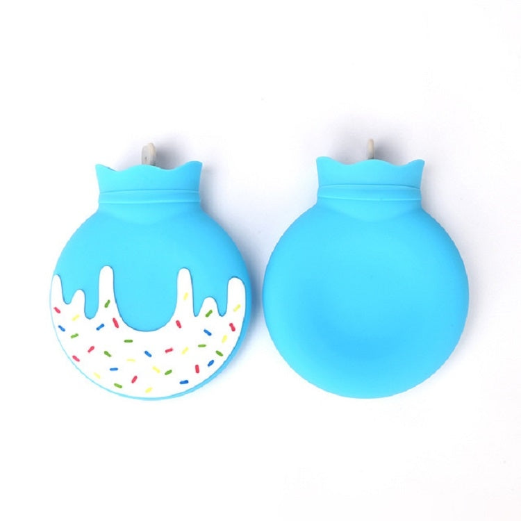 Silicone Hot Water Bottle Plush Warm Handbag Mini Water Injection Hot Water Bottle(Sky Blue) - Star Produkte