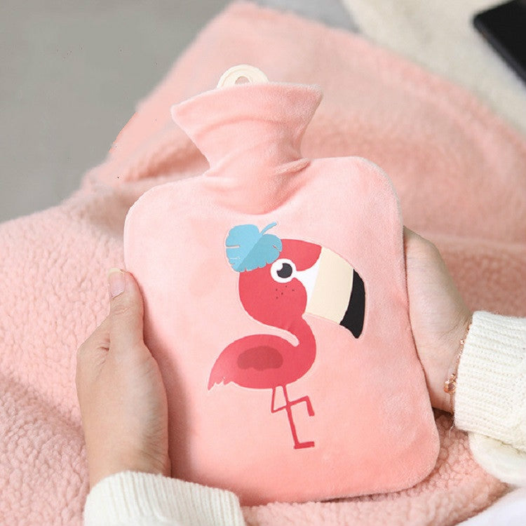 500ml Water Injection Hot Water Bottle Creative Mini PVC Irrigation Water Heating Bag(Pink) - Star Produkte