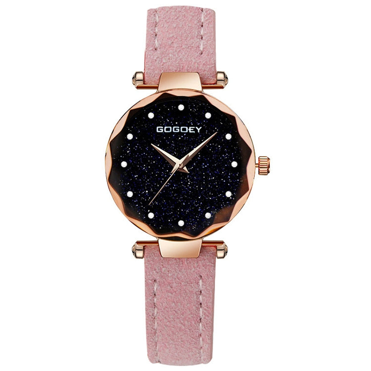 GOGOEY Rectangle Dial Drill Simple Scrub Soft Belt Watch(Pink) - Star Produkte