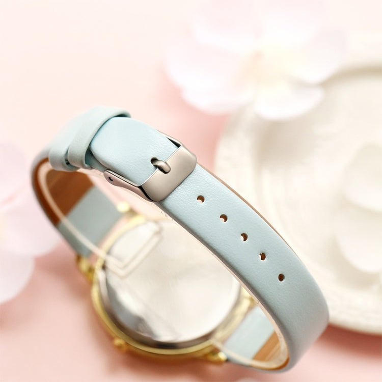 Lvpai P086Leather Strap Flower Dial Quartz Wrist Watch(Rose Red+Rose Gold) - star-produkte.myshopify.com