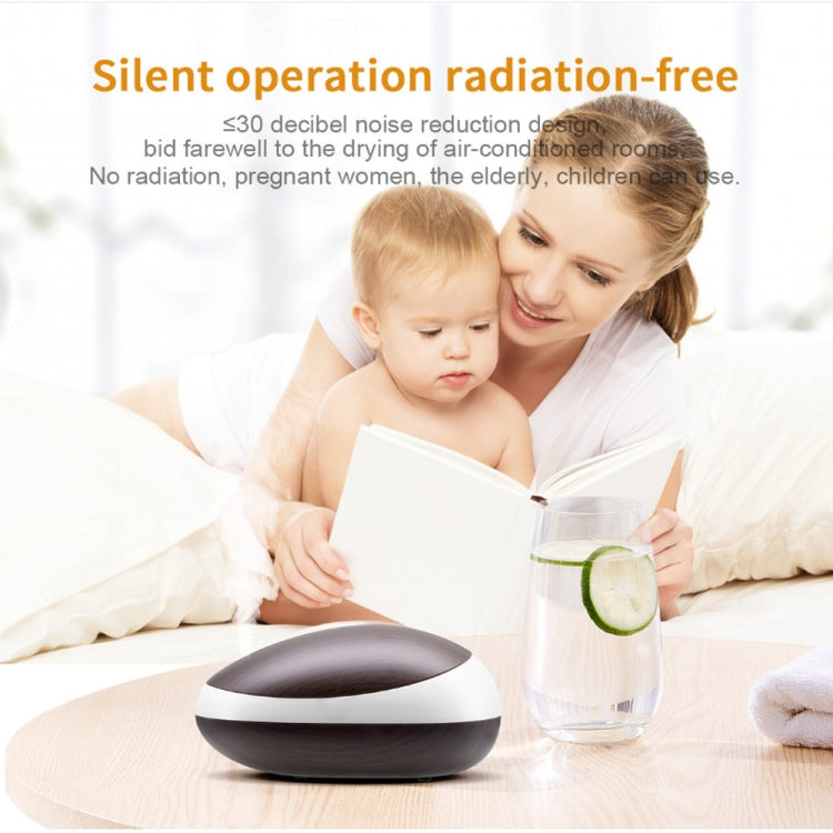 Mouse Wood Grain Essential Oil Air Humidifier Colorful Night Lamp Ultrasonic Aroma Diffuser, Power Plug:UK Plug(Light Wood Grain) |