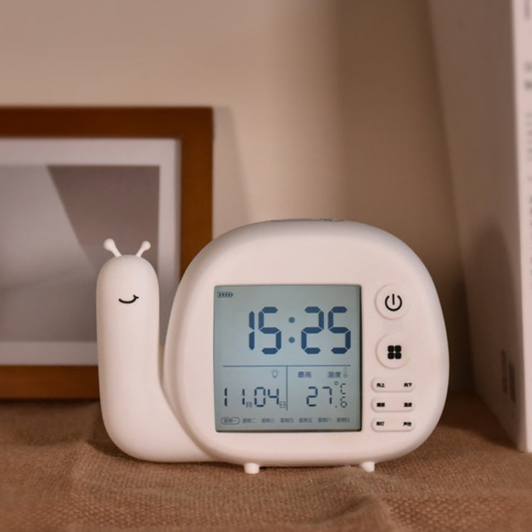 Creative Small Snail Multifunctional Smart Digital Alarm Clock(White) - star-produkte.myshopify.com