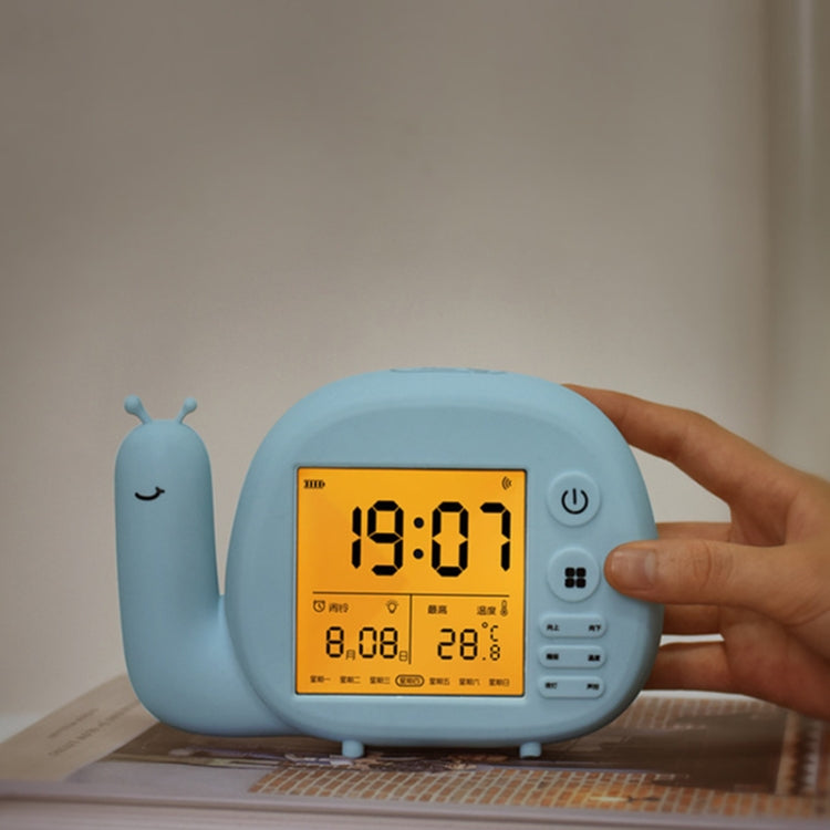 Creative Small Snail Multifunctional Smart Digital Alarm Clock(Blue) - Star Produkte